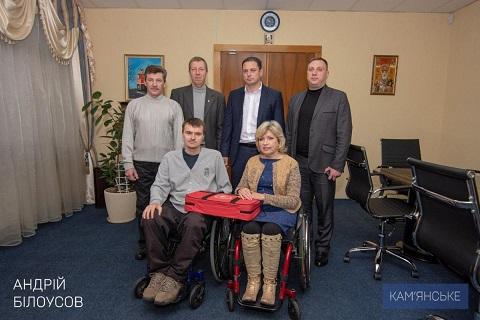 Мэр г. Каменское побывал в гостях у спортсменов КУ «Инваспорт» Днепродзержинск