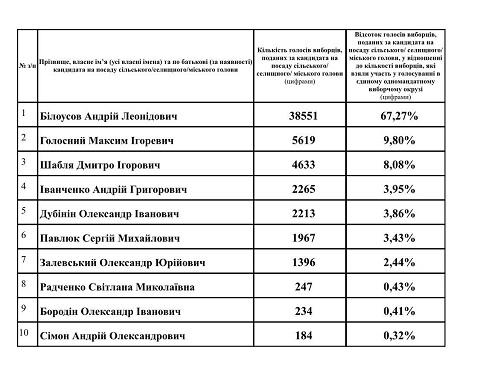 В Каменском действующего мэра поддержали более 67% избирателей Днепродзержинск