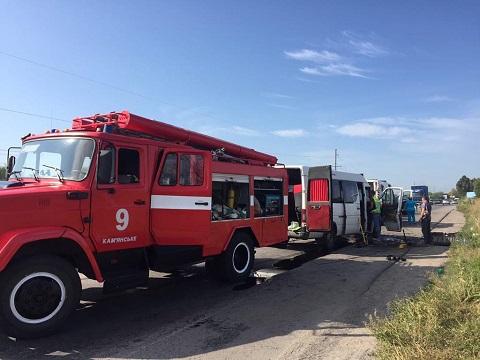 На трассе под г. Каменское в аварии пострадали люди Днепродзержинск