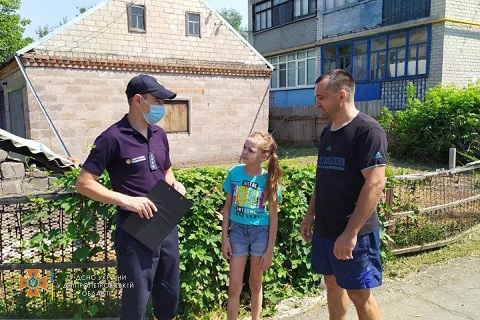 Под г. Каменское спасатели провели работу с населением Днепродзержинск
