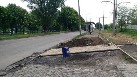 В районе площадки для выгула собак в Каменском благоустраивают территорию  Днепродзержинск