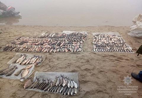 На Каменском водохранилище правоохранители задержали четырех браконьеров Днепродзержинск