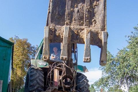 В г. Каменское продолжают реализацию программы по ликвидации бесхозных погребов Днепродзержинск