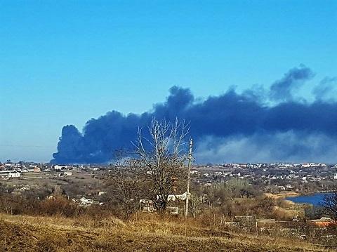 В селе Каменка под Днепром горит ЗПИ Днепродзержинск