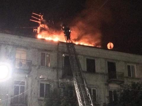 В центре г. Каменское спасатели ликвидировали пожар Днепродзержинск