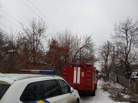 В  г. Каменское ликвидировали пожар на территории частного домовладения Днепродзержинск