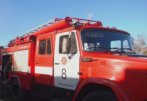 Под г. Каменское ликвидировали пожар в частном секторе Днепродзержинск