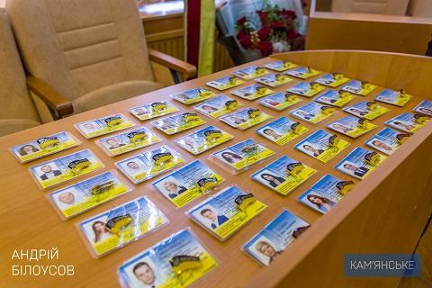 В Каменском мэру А. Белоусову вручили атрибуты власти Днепродзержинск