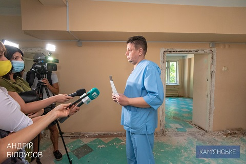 Мэр г. Каменское побывал на объектах проведения капремонта Днепродзержинск