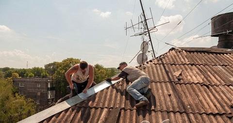 В Каменском отремонтировали несколько крыш в домах по ул. Москворецкая Днепродзержинск