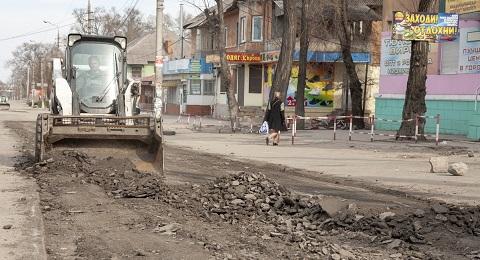 На улице Мурахтова г. Каменское начали ремонт дороги Днепродзержинск
