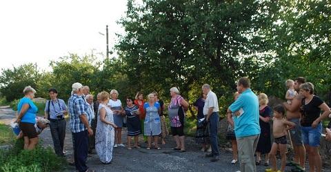 В Каменском провели собрание жителей поселка Романково Днепродзержинск