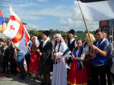 Карнавальное шествие в разгаре Днепродзержинск