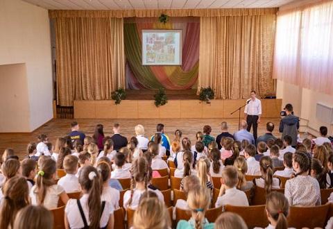 Мэр г. Каменское говорил с детьми на открытом уроке «Здоровым быть модно!» Днепродзержинск