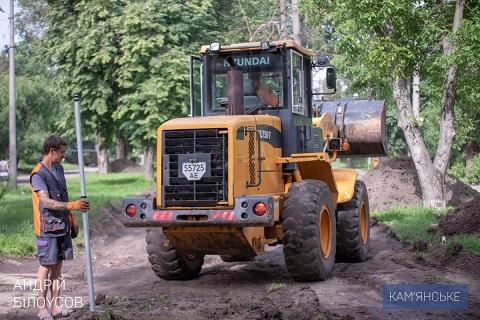 В Южном районе г. Каменское строят новые инфраструктурные объекты Днепродзержинск