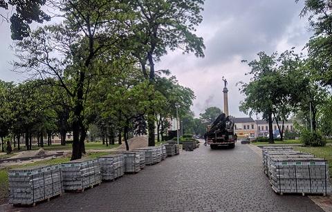 Центральный сквер г. Каменское оборудован новыми объектами Днепродзержинск