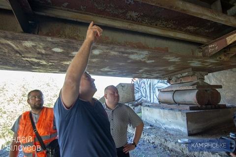 В Каменском провели обследование конструкции мостового перехода через Днепр Днепродзержинск