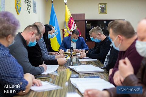 В Каменском градоначальник провел встречу с представителями ОО «Патриот-2015» Днепродзержинск
