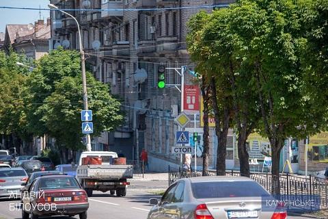 В Каменском начал работу светофорный комплекс Днепродзержинск