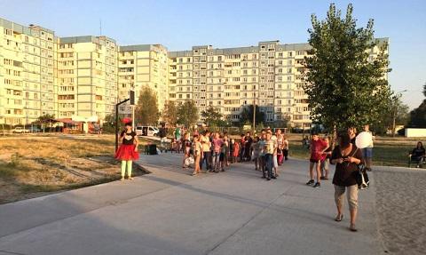 На Левобережье г. Каменское для детей провели праздник Днепродзержинск
