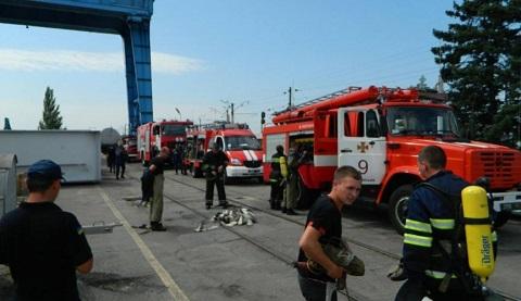 На ГЭС в Каменском прошли противопожарные учения Днепродзержинск