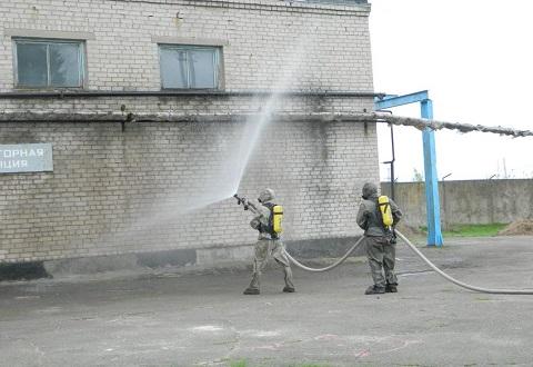 На предприятии г. Каменское ликвидировали условную аварию Днепродзержинск