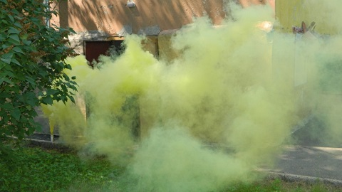 Каменские спасатели тренировались ликвидировать пожар на опасном объекте Днепродзержинск
