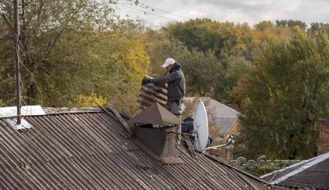 Ремонт крыши выполнили на Днепрострое в Каменском Днепродзержинск