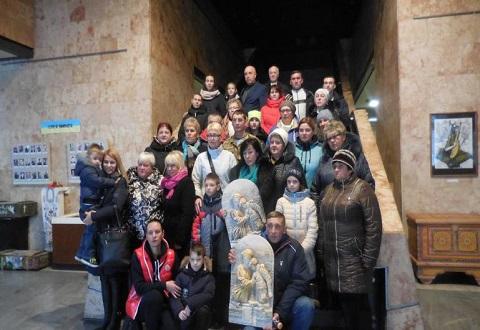 Иконы памяти вручили семьям погибших воинов АТО в Каменском Днепродзержинск