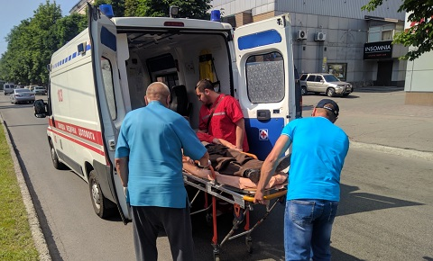 На проспекте Свободы г. Каменское сбили пожилого велосипедиста Днепродзержинск