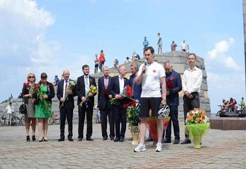 В городе Каменское прошел велозаезд Днепродзержинск