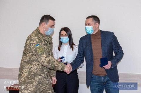В Каменском поздравили служащих вооруженных сил Украины Днепродзержинск