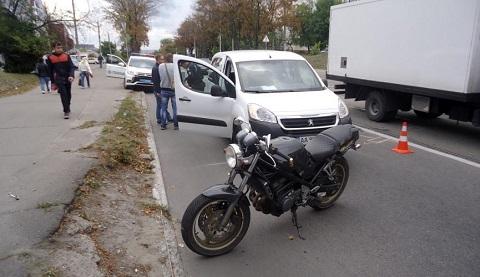 В г. Каменское  мотоциклист пострадал  в результате ДТП на проспекте Шевченко  Днепродзержинск