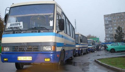 В Каменском автоперевозчики противостояли частному извозу Днепродзержинск