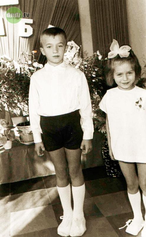 Мокеенко с сестрой Валей